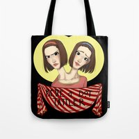 ahs Tote Bags featuring AHS Twins by Raygor
