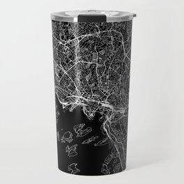 Oslo Black Map Travel Mug