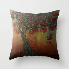Blowing in the wind Throw Pillow