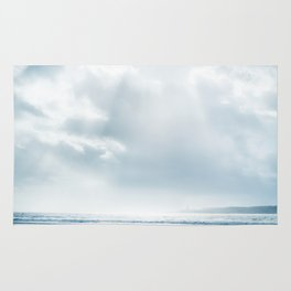 Free - Seascape with cloudy sky. Rug
