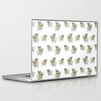 pugs Laptop & iPad Skins featuring Pugs by Ann Rubin