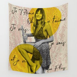 .Je T'aime. Wall Tapestry