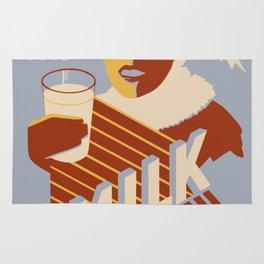 Vintage poster - Milk for Warmth Rug