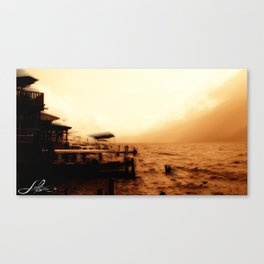 sephia sunset Canvas Print