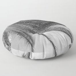 Palm Tree Leaves Upshot Side View in Noir Floor Pillow