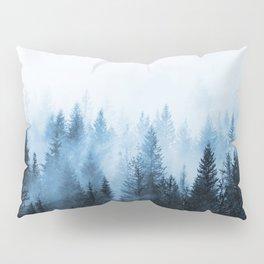Misty Winter Forest Pillow Sham