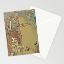 Duesseldorf Medienhafen View from the Tower Stationery Cards