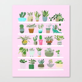 Shelfie cactus print Canvas Print