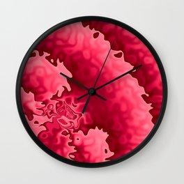 Bubble Gum Curlicue Wall Clock