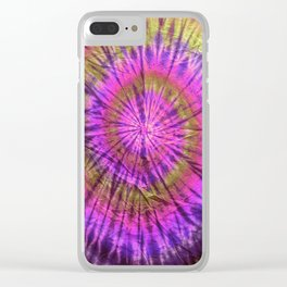 Tie Dye 23 Clear iPhone Case