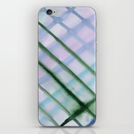 Intersection of greens || watercolor iPhone Skin
