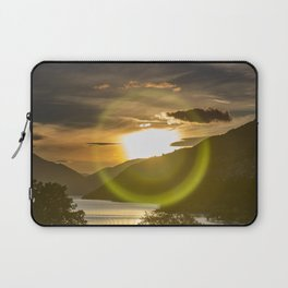 Golden Sunset on Queenstown and Lake Wakatipu Laptop Sleeve