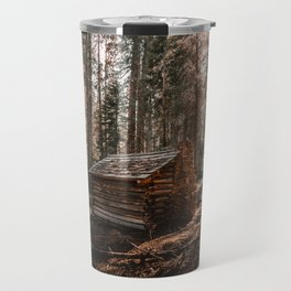Log Cabin in the Forest Travel Mug