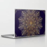 islam Laptop & iPad Skins featuring Gold Mandala by Mantra Mandala