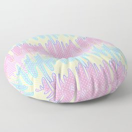 Melty Patterned Slime Floor Pillow