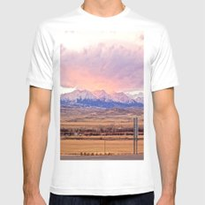 Those Crazy Mountains Mens Fitted Tee White MEDIUM