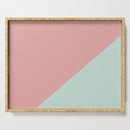 Soft Pink & Soft blue - oblique Serving Tray