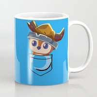 warcraft Mugs featuring Viking Pepe! by SlothgirlArt