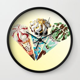 The Cornetto Trilogy Wall Clock
