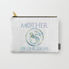 Mother of Unicorns Funny Mother Shirt Carry-All Pouch