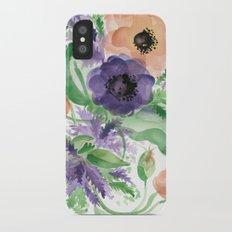 Spring Bouquet - Tulips & Anemones Slim Case iPhone X