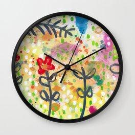 Midnight Garden cycle24 6 Wall Clock