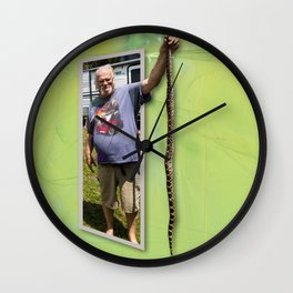 The Snake Dude Wall Clock