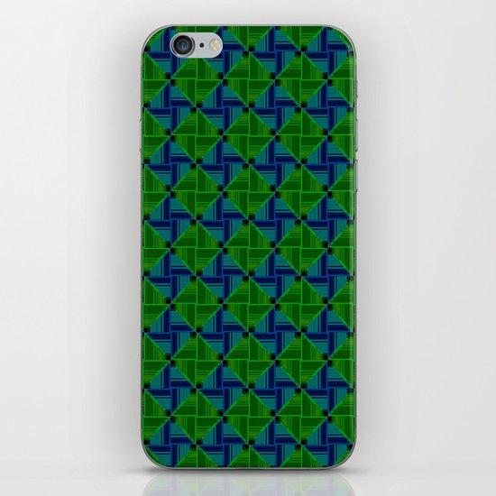 Green Parquet iPhone & iPod Skin