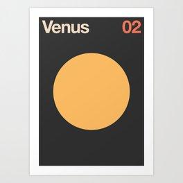 Venus 02 - Minimal Planets Art Print