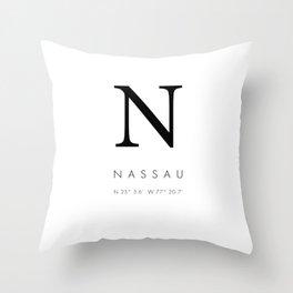 25North Nassau Throw Pillow