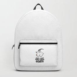Just a Girl Who Loves Goats Girl Goat Farmer Love Goats Backpack