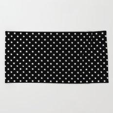 Polka Stars: Black and White Beach Towel