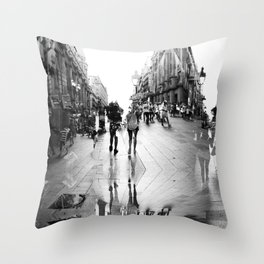 Summer space, smelting selves, simmer shimmers. 15, grayscale version Throw Pillow
