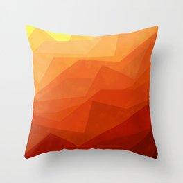Stratum 3 Orange Throw Pillow