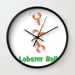 Lobster T-shirt for Men, Women and Kids Lobster roll Wall Clock