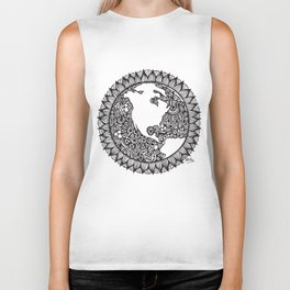 Zentangle - Zen World  Biker Tank