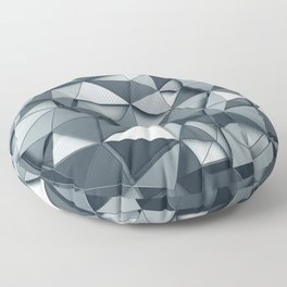 Silver Chrome Cyber Print Floor Pillow