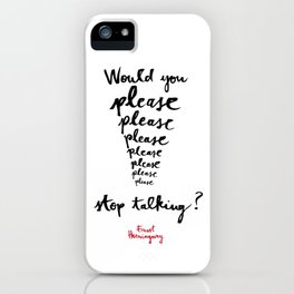 Please-white iPhone Case