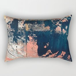 Hidden Gem [1]: an abstract mixed media piece in pink, blue, gold and white Rectangular Pillow