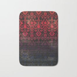 -A12- Red Blue Gardient Colored Moroccan Artwork. Bath Mat