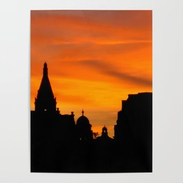 London Sunset in sillouette bywhacky Poster
