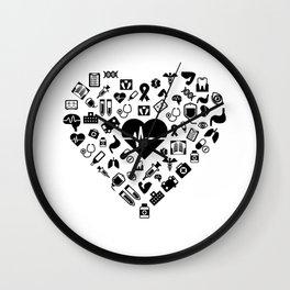 I Love First Aid | Doctor Nurse Heart Hospital Wall Clock