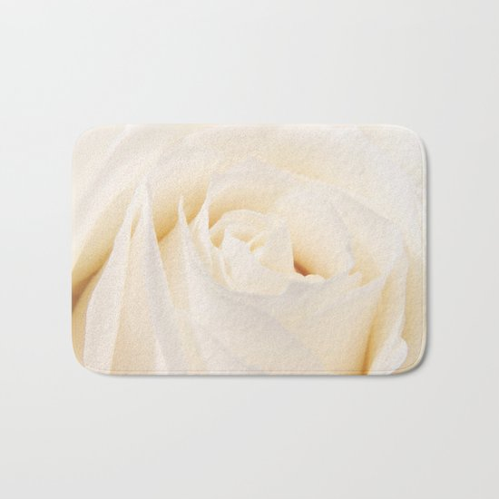 White Winterrose - Rose- Roses Bath Mat