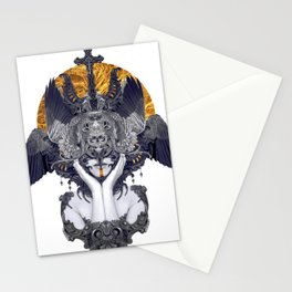 Black Feathers Stationery Cards