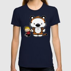 Hello Tiger Navy LARGE Womens Fitted Tee