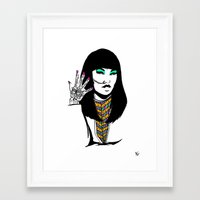 henna Framed Art Prints featuring Henna by rbengtsson