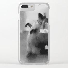 Dancing Cat Clear iPhone Case