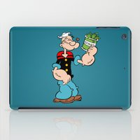 popeye iPad Cases featuring Popeye the Sailor Man by CromMorc