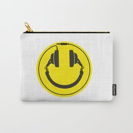 Headphones smiley wire plug Carry-All Pouch