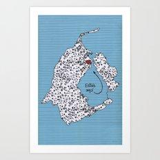 Map of Zulia, Venezuela Art Print